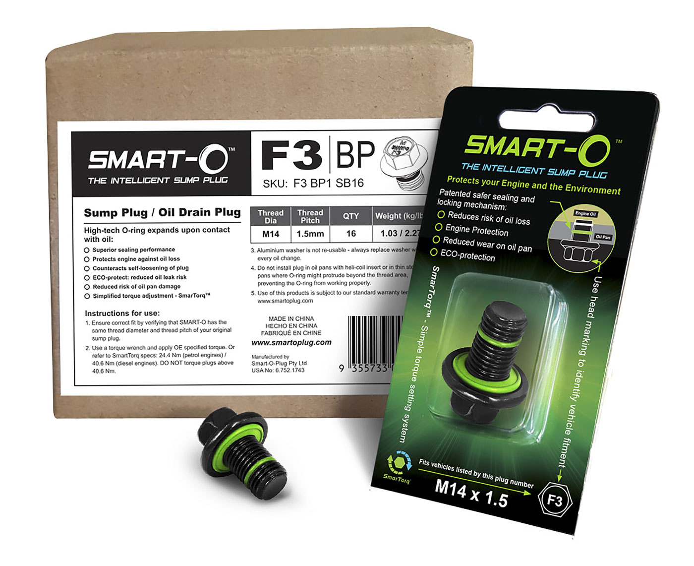 SMART-O Replenishment Box of 16 x F3BP1 Sump Plugs