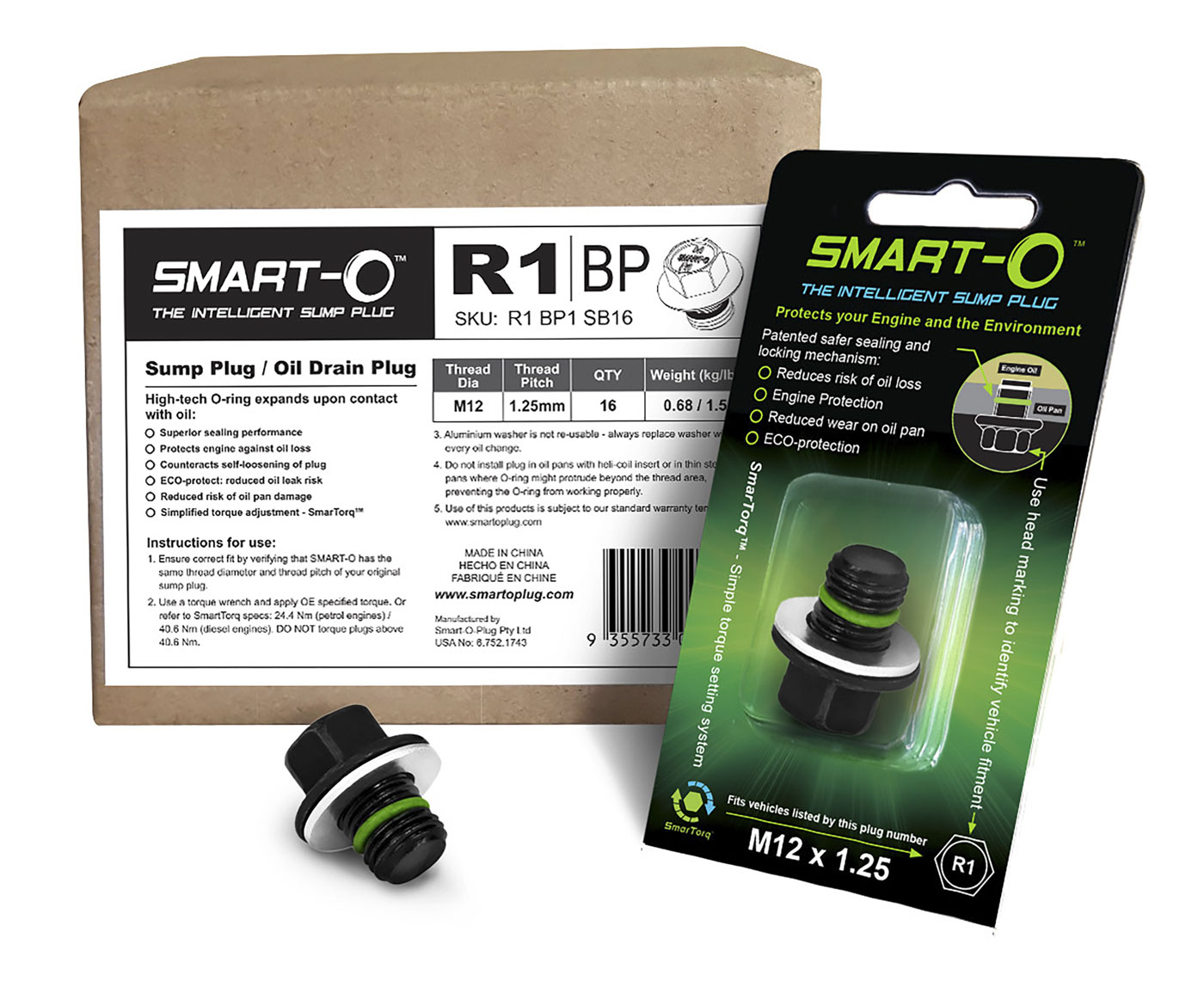 SMART-O Replenishment Box of 16 x R1BP1 Sump Plugs