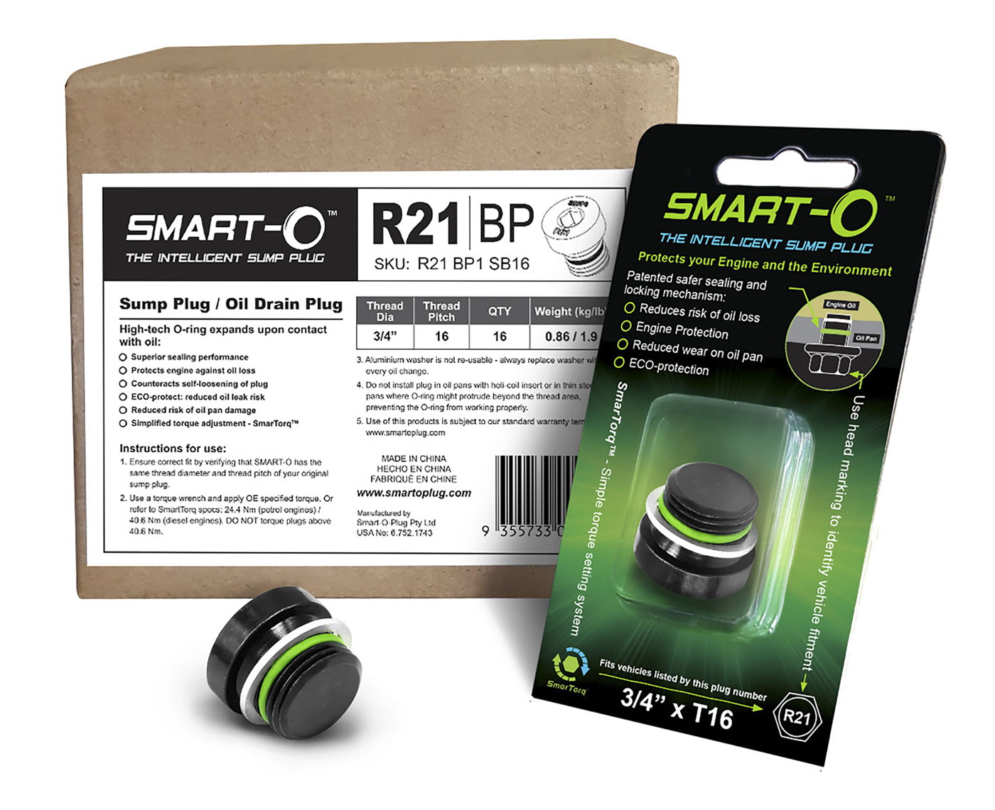SMART-O Replenishment Box of 16 x R21BP1 Sump Plugs