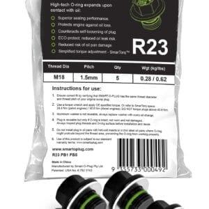 SMART-O Poly Bag Sump Plug 5X R23PB1PB5