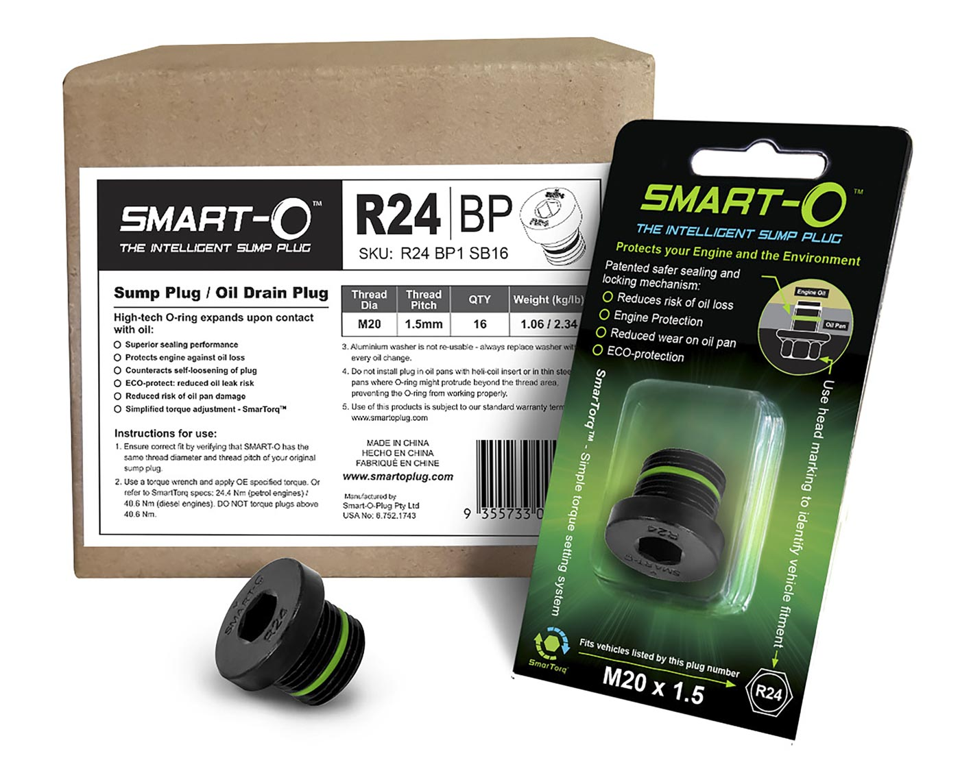 SMART-O Replenishment Box of 16 x R24BP1 Sump Plugs