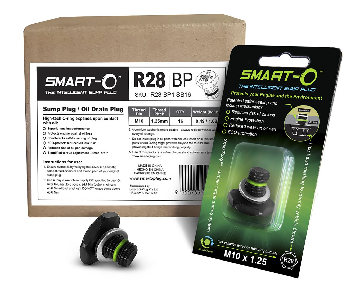 SMART-O Replenishment Box of 16 x R28BP1 Sump Plugs