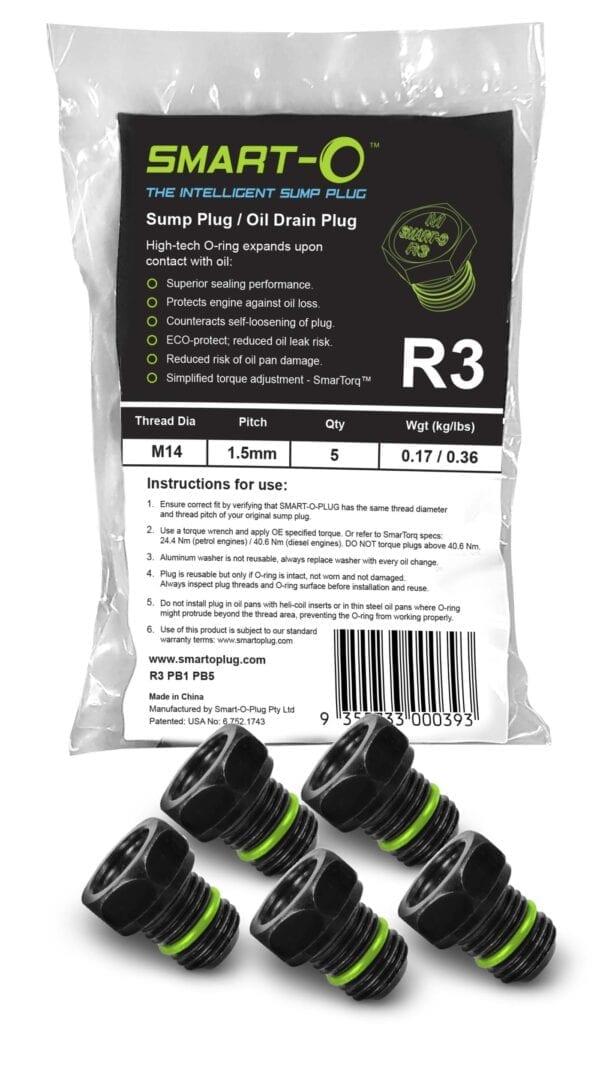 SMART-O Poly Bag Sump Plug 5X R3PB1PB5