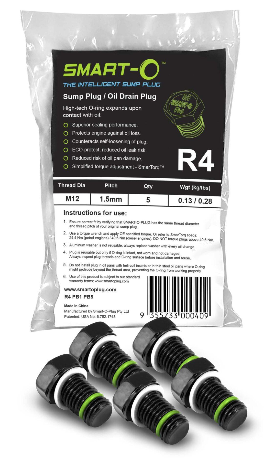 SMART-O Poly Bag Sump Plug 5X R4PB1PB5