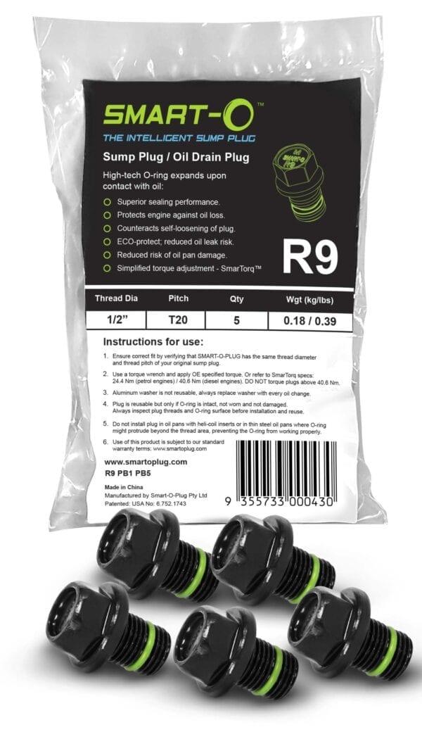 SMART-O Poly Bag Sump Plug 5X R9PB1PB5